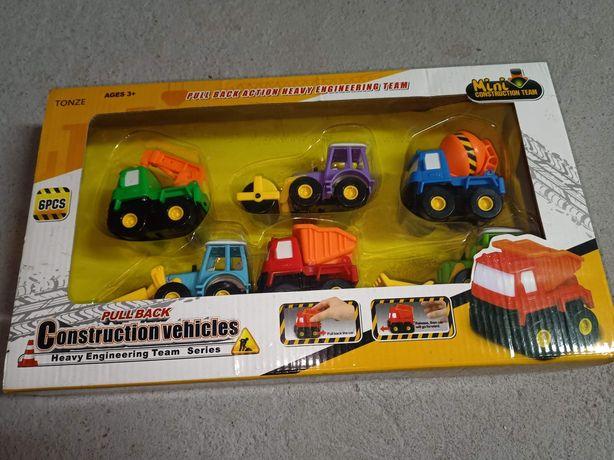 Tonze construction vehicles samochody budowlane zestaw