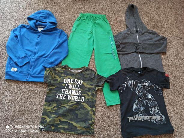 Ubrania chłopięce  r. 122 koszulka moro Reserved, Bluzy 128,spodnie140