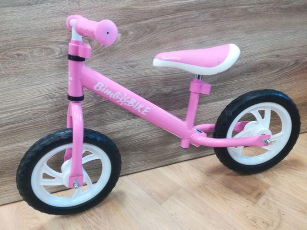 Różowy rowerek biegowy,na piankowych kołach,dla dziewczynki 3-4lata