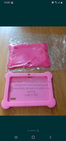 Capa para tablet 7 polegadas Rosa Claro