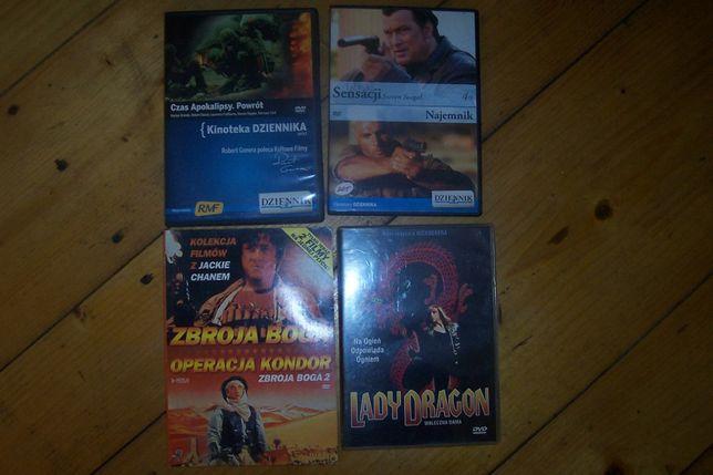 Filmy DVD - sensacyjno / przygodowe Seagal, J. Chan, itp