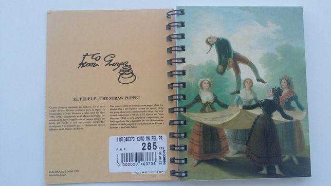 Caderno pequeno folhas brancas Museu Goya