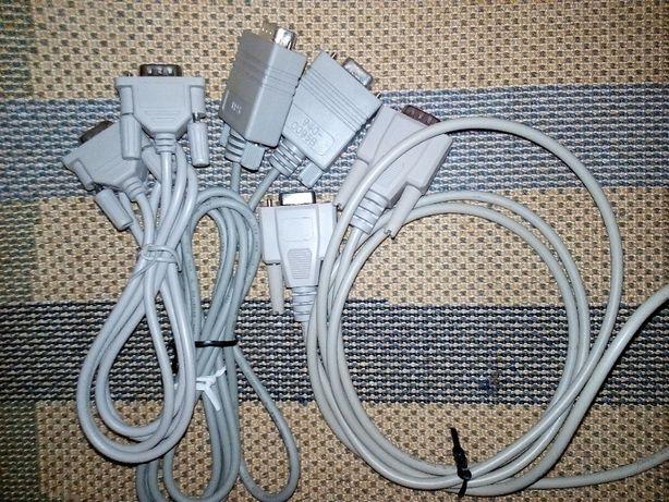 """нуль-модемный кабель """"папа-мама"""" (9pin) DB9 COM. RS-232. есть 3 шт."""