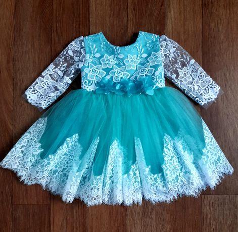 Нарядное детское платье 1-3 года. Пышное платье. Бальное платье