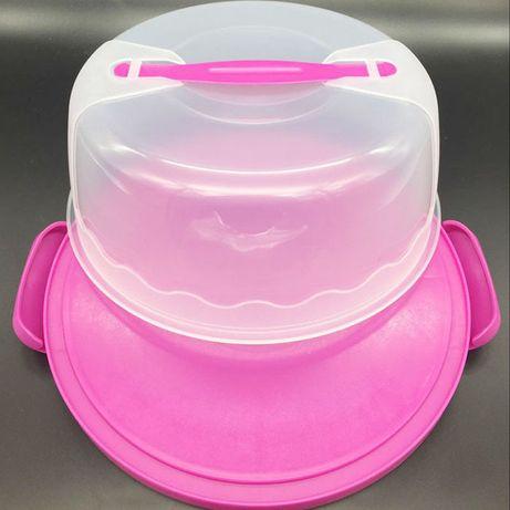 Пластиковый контейнер для торта
