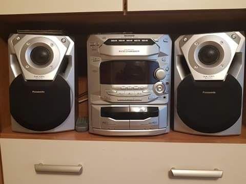 Wieża Panasonic ak18 kolumny 5cd kasety zmieniarka