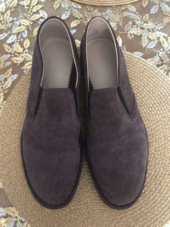 Туфлі чоловічі з натурального замшу PUNTO Pigro Italy