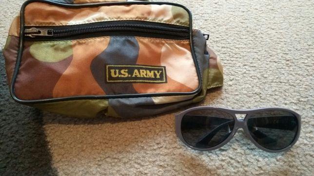 Zestaw dla małego podróżnika - okulary H&M i nerka - saszetka