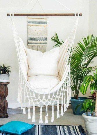 Hamak ogrodowy huśtawka fotel wiszący brazylijski