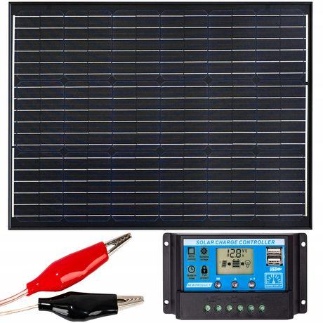 Panel solarny bateria słoneczna 50w 12v regulator [ZES272]