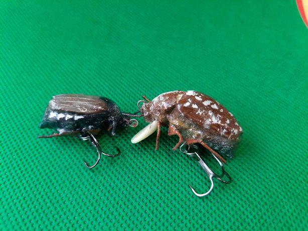 Воблер Майский жук ,Мраморный хрущ поверхностные приманки на головля