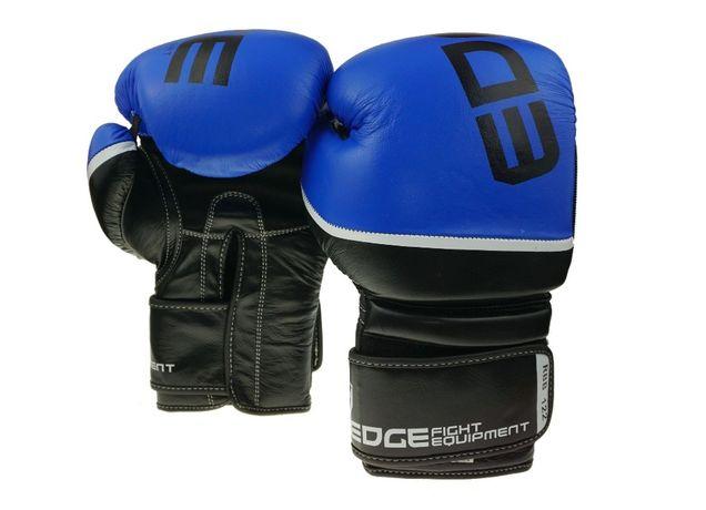 NOWE Rękawice bokserskie sparingowe MUAY THAI skóra bydlęca 10 OZ EDGE