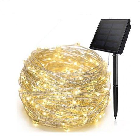 Solar + Łańcuch 200 LED - 20 metrów-4kolory
