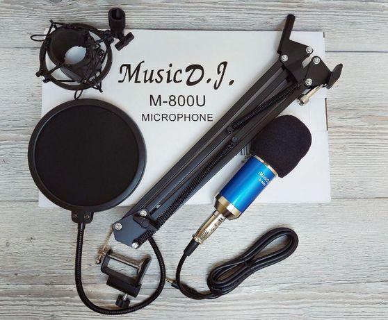 звукозапись - Студийный микрофон M-800U / (настольный. усилитель)