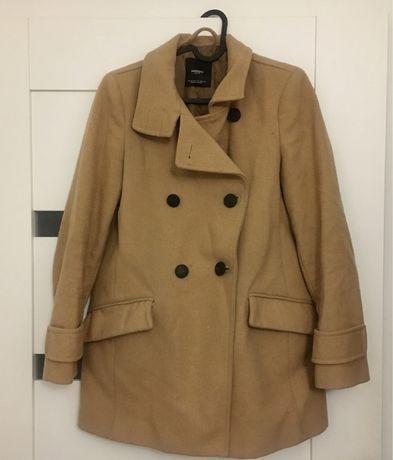 Karmelowy płaszcz jesień zima 34 36