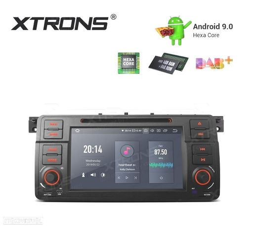 "AUTO RÁDIO GPS 7"" ANDROID 9.0 HEXA-CORE MULTIMEDIA DVD HDMI PARA BMW, ROVER, MG"