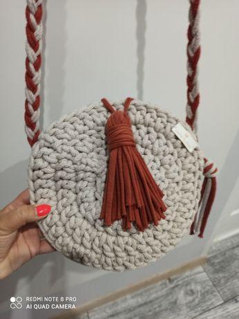 Torebka handmade ze sznurka