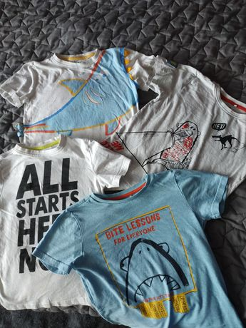 Koszulki w rozmiarze 122. Z 5 10 15.