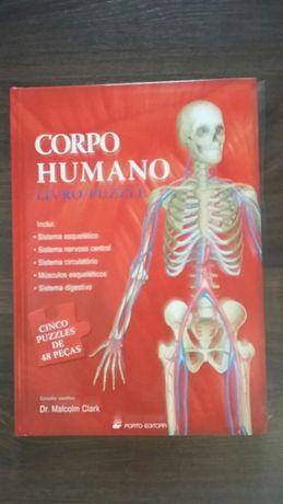 Livro puzzle corpo humano