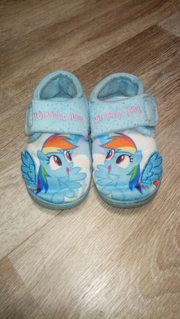 my little pony rainbow dash тапочки для сада дома Пони Единорог