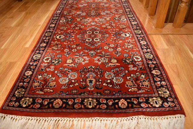 Piękny Indo-Saruk Chodnik Wełniany Ręcznie Tkany Dywan Orient vintage