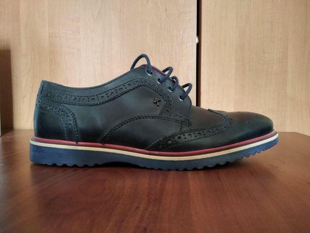 Новые стильные кожаные туфли (броги) Kickers