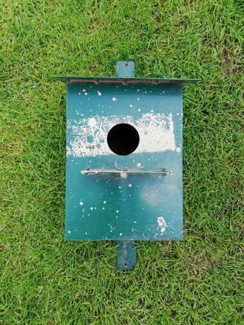 budka lęgowa metalowa domek dla ptaków rękodzieło
