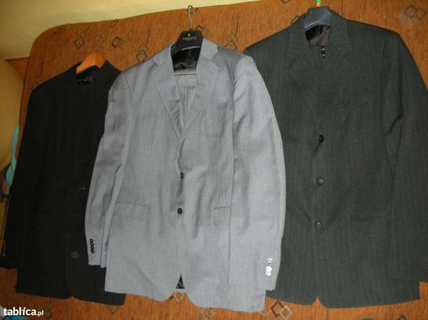 !!!Zestaw!!! Markowe garnitury, marynarki-5 sztuk plus krawaty GRATIS