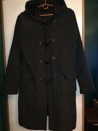 Wysyłka gratis. Płaszcz kurtka szary melanż wiosna jesień M