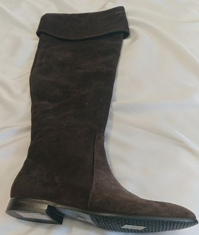 Нові-Сапоги,чоботи,ботфорти замшеві р 36