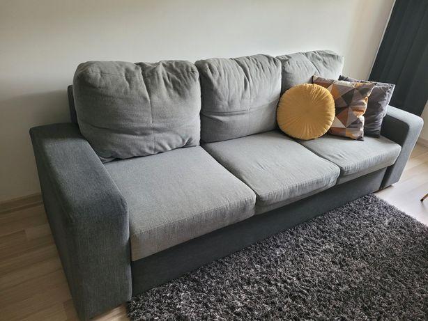 Łóżko wersalka rozkładana kanapa szara