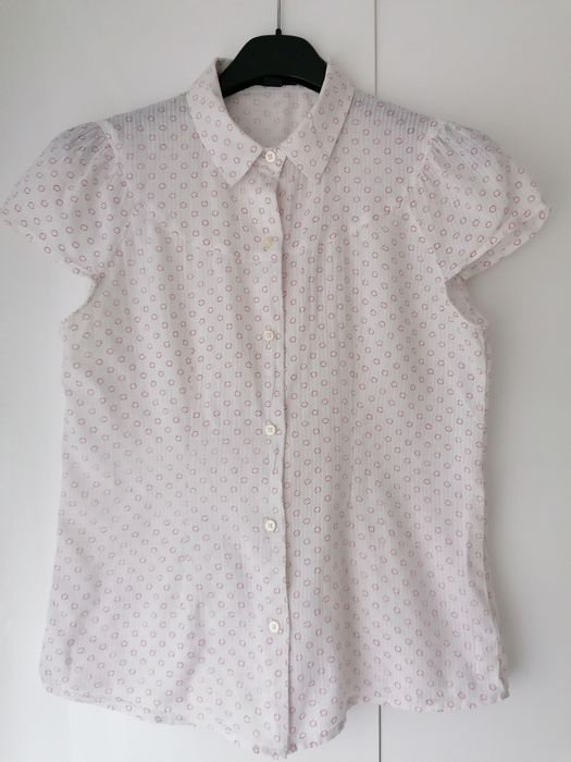 Koszula GAP biała krótki rękaw rozmiar 36 S 38 M Łęczna - image 1