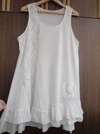 Освобождаю шкафы. Стильное белое платье туника. Италия.