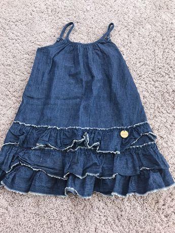 Sukienka dżinsowa falbanki 110
