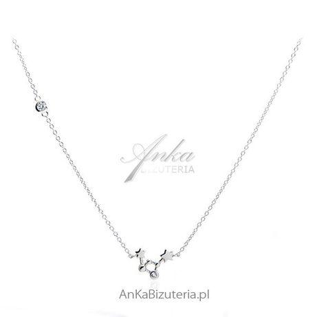 ankabizuteria.pl choker srebrny z czarnymi cyrkoniami Naszyjnik srebrn