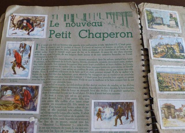 stary francuski album ze znaczkami
