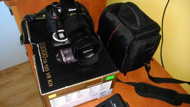 Nikon D3300 + obiektyw 18-105 VR+Filtr polaryzacyjny +Torba nieprzamak