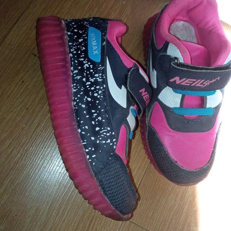 Кроссовки кроссы кеды слипоны яркие 17 см стелька