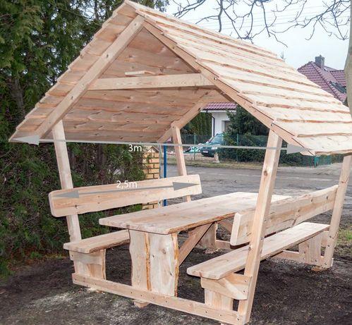 Altana ogrodowa 10 os, biesiadna ławki stół 2,5m zadaszenie Śląsk