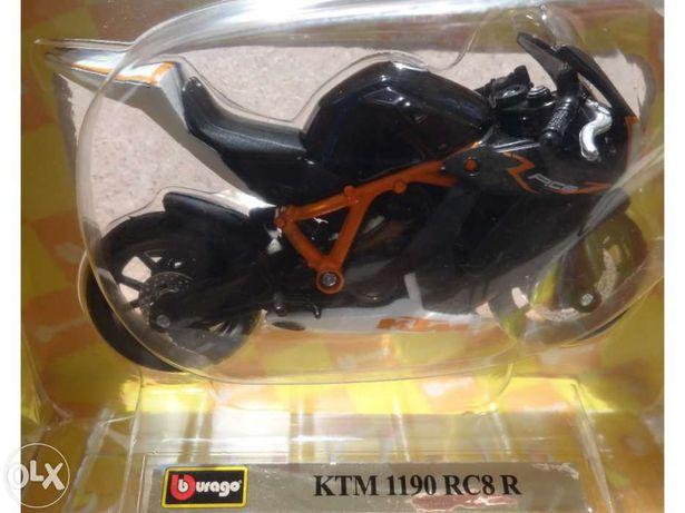 Mota em miniatura ( burago ) - ktm 1190 rc8 r