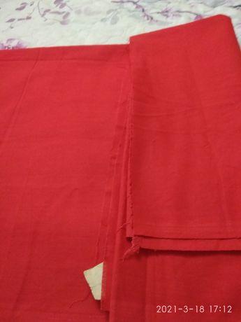 Ткань красная ПИОНЕРИЯ
