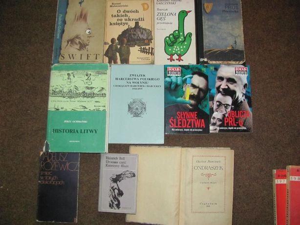 Książki różne na wymianę za książki