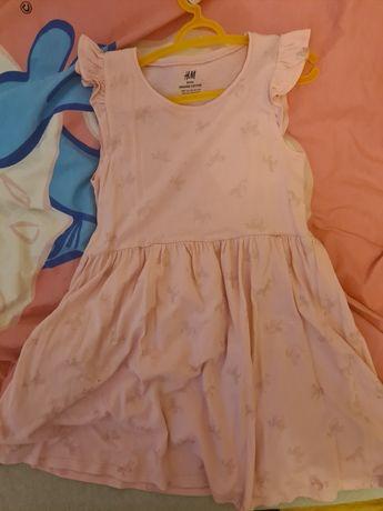 Lekka sukienka na lato dla dziewczynki H&M r.122-128