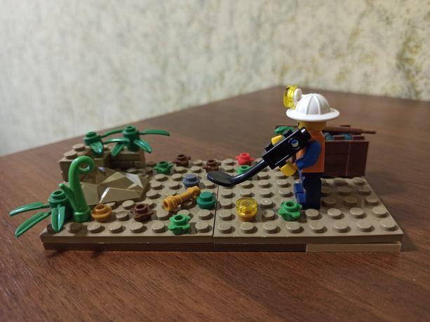 лего набор lego человечки солдатики игрушки металлоискатель сокровища