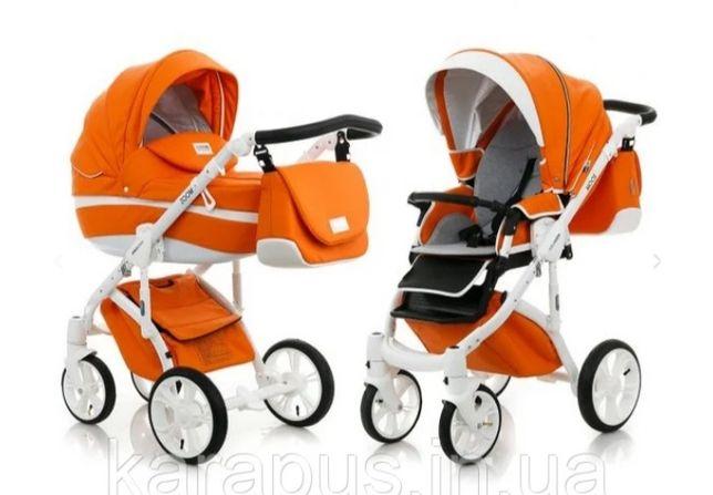 Универсальная коляска  Mioobaby Zoom 2в1, оранжевая