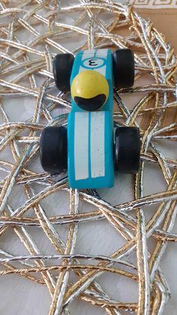 Stara zabawka drewniana wyścigowa