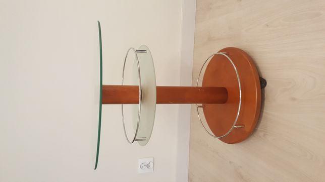 Stolik kawowy AEK dreniany z szyba