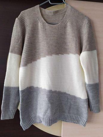 Sweter 3 color xxl ciepły