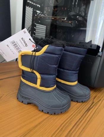 Зимові чоботи на вовняній підкладці, дутіки, sinsay
