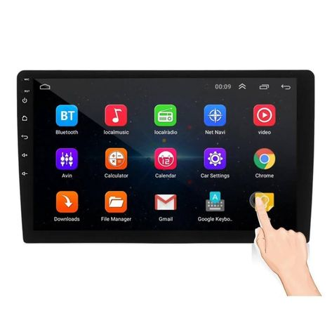 Radio Digital Android iMars 10.1' 2 Din MP5 FM Bluetooth GPS WIFI novo